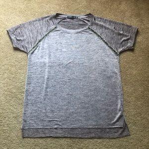 Bershka metallic short sleeve top S